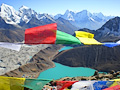 Mt. Everest and prayer flags