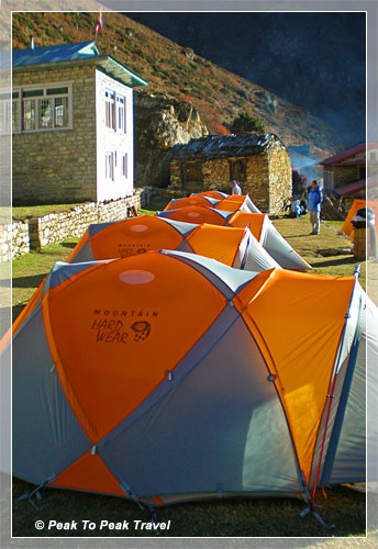 Camping in the Himalaya