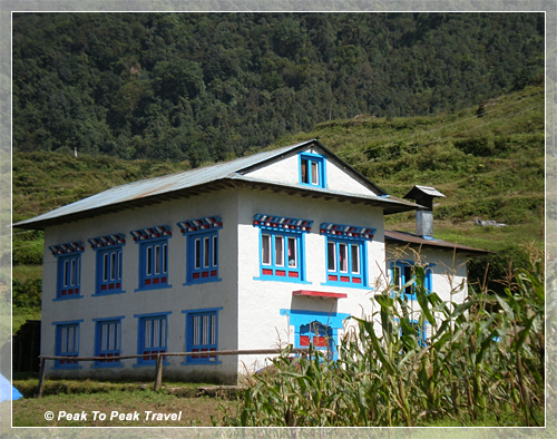 Dawa's home in Mera (6,500 ft)