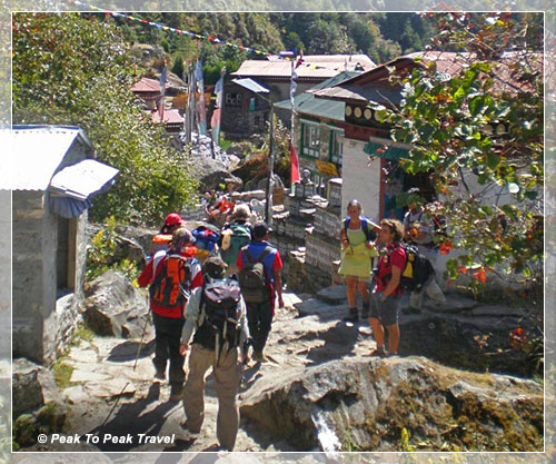 Trekking through Sherpa village: Ghat