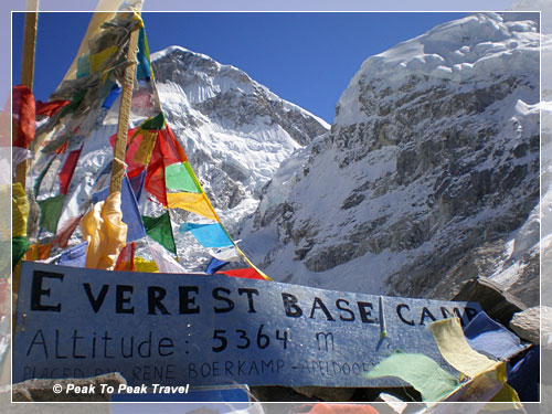 Mt. Everest Base Camp (17,500 ft)