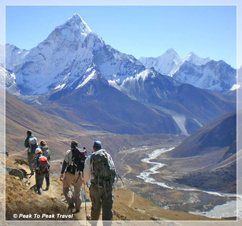 Trekking in the Khumbu Valley, View of Mt. Amadablam